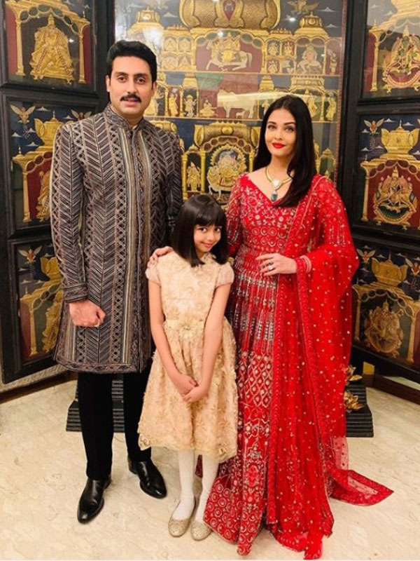 Aishwarya Rai in red anarkali suit