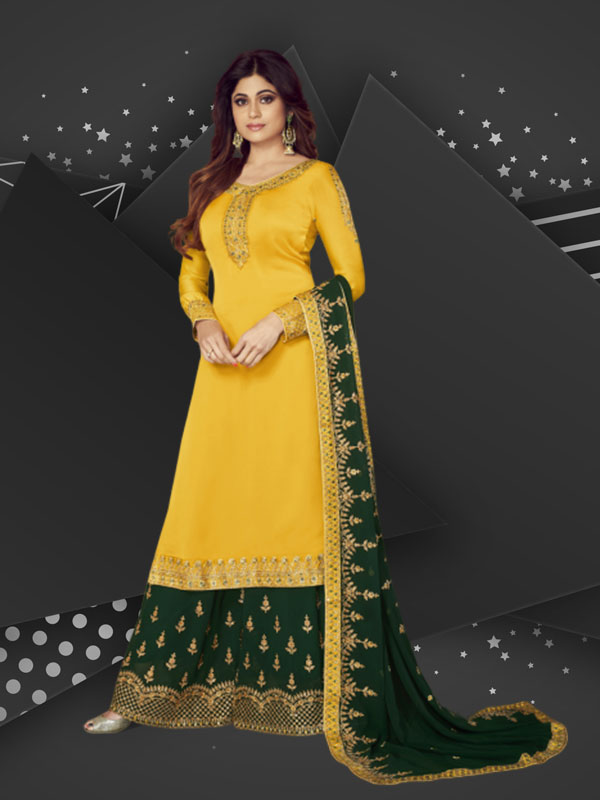 ethnic wear: Long suits with Sharara