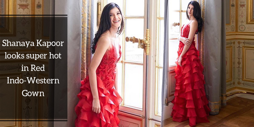 Red Indo-Western Gown