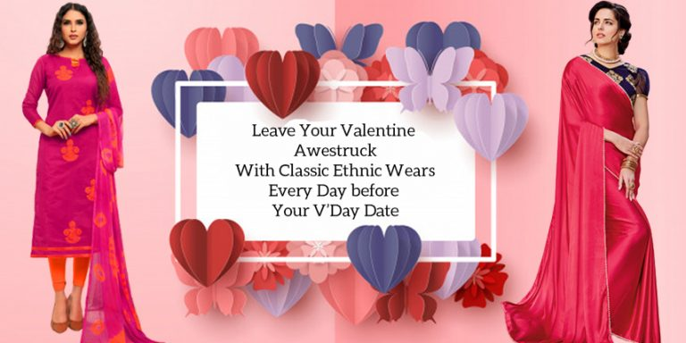 ethnic wear for valentine day