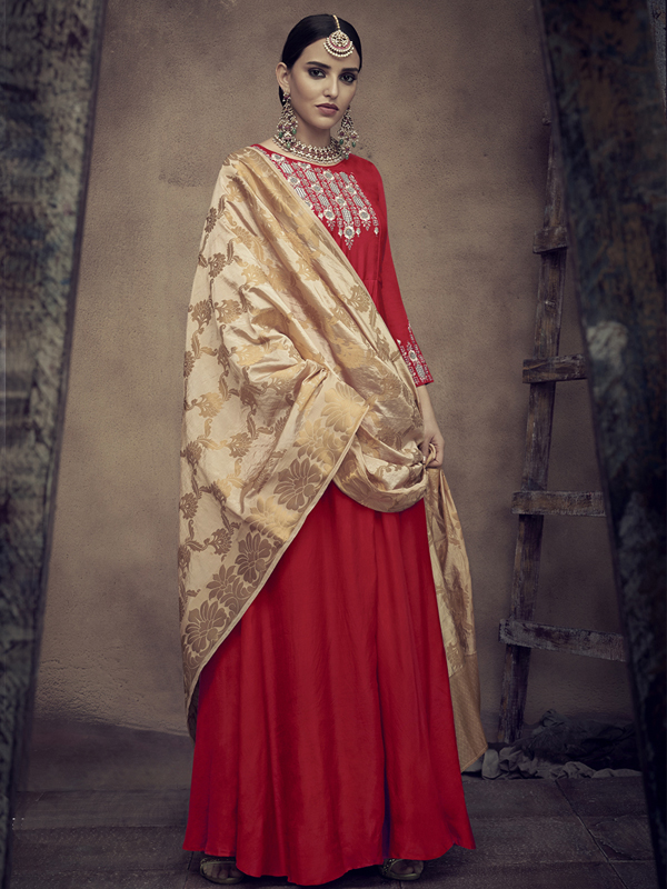 traditional kurti in Red