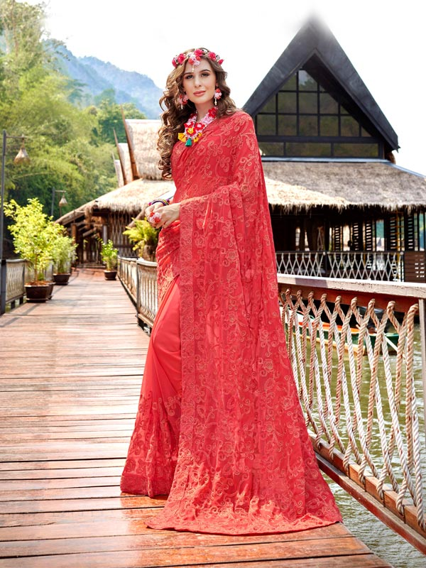 Buy Embroidred saree Online