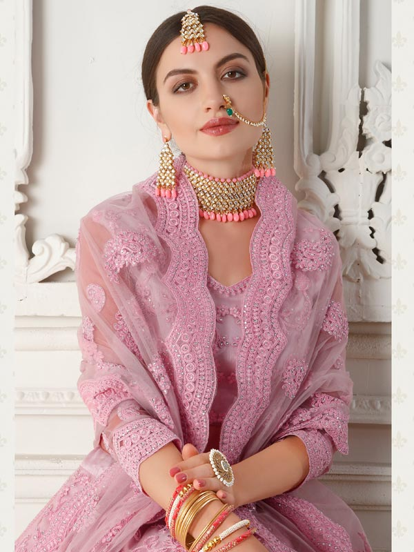 Ethnic Outfit with traditional jewelry